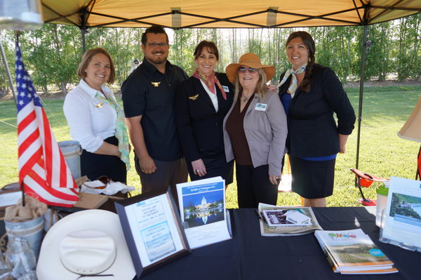 The Paso Robles Chamber of Commerce staff at the Business Expo.