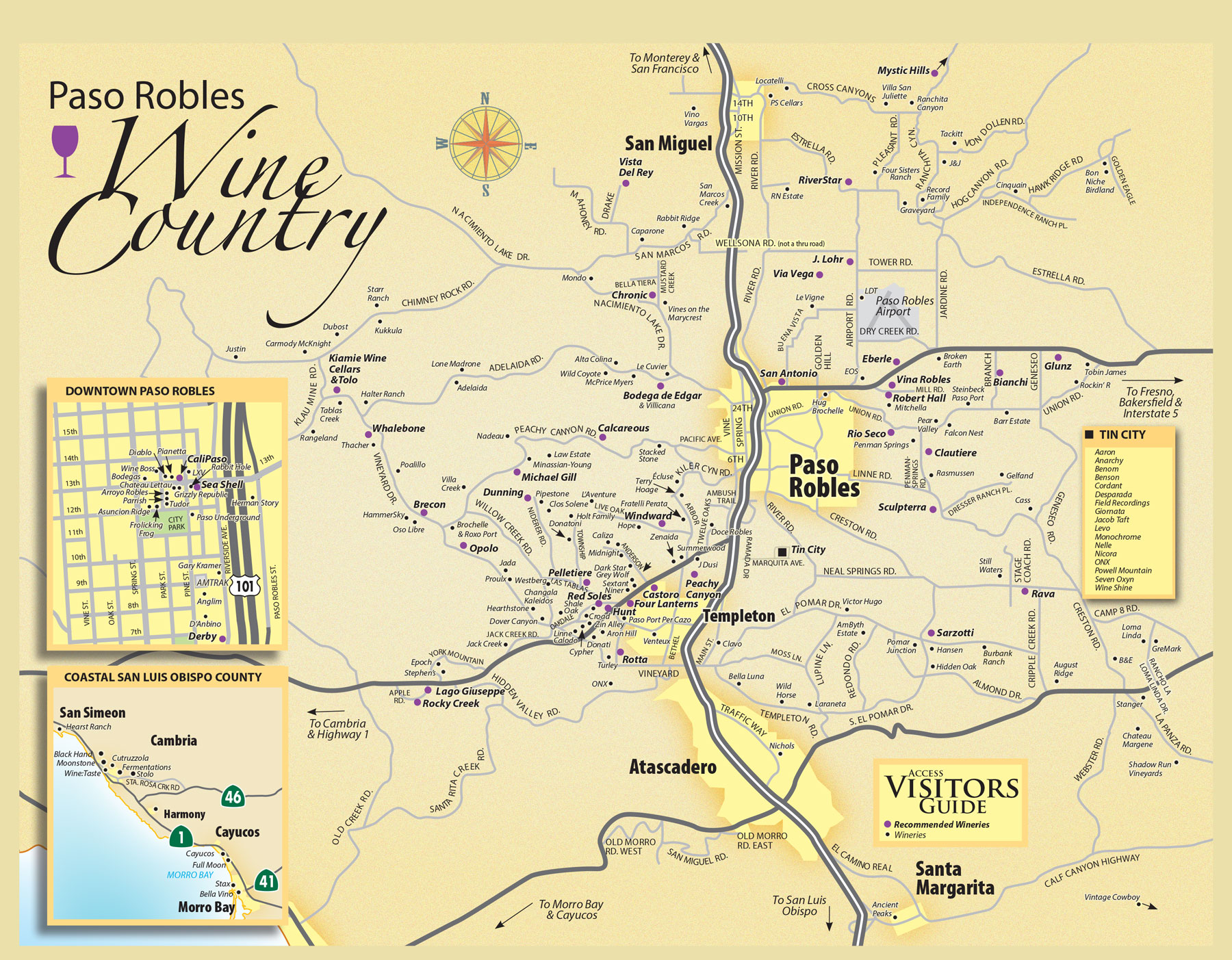 Paso Robles Wineries Map Paso Robles Wine Tasting Map   Paso Robles Daily News