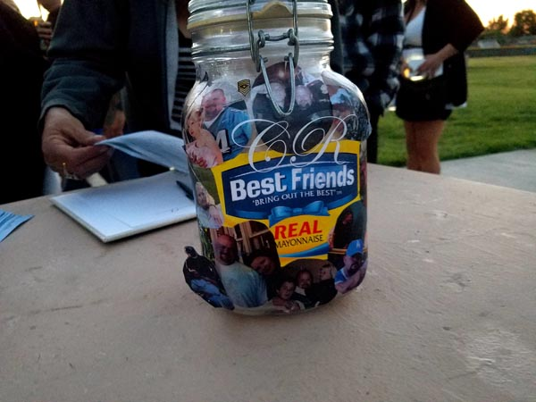 "When Rice was in the hospital, he told everyone that he wanted to be cremated and put into a jar with the Best Foods label but instead he wanted it to say ""Best Friends"" and have the jar covered with pictures of him, friends, and family."