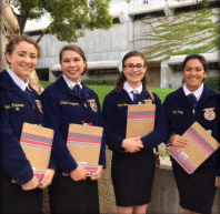 Team members (left to right) are: Eden Peterson, Dakota Rodriguez, Sadie Mae Mace, Maria Hernandez.