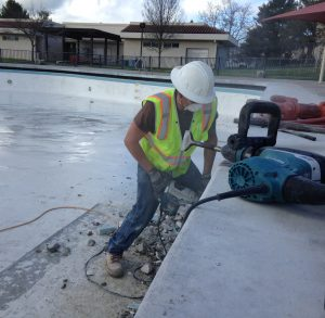 Centennial Pool construction