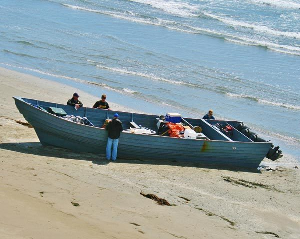 An image of a similar panga boat to the one that was possibly spotted.