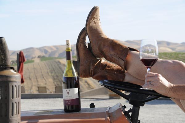 Tractor, Boots and Wine by Vicky Vargas