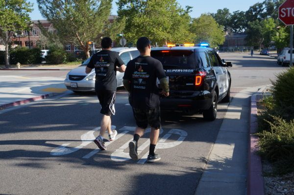 Paso Robles Police Department Special Olympics torch run.
