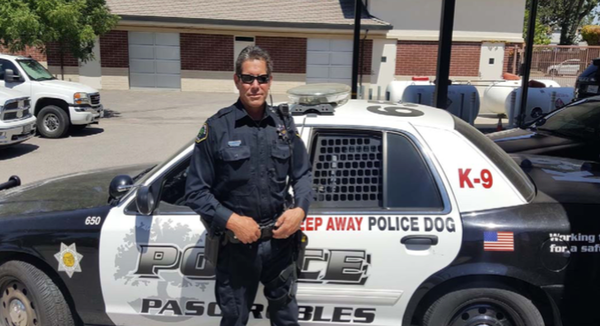 Officer Hackett latest Paso Robles Police Department K9 handler.