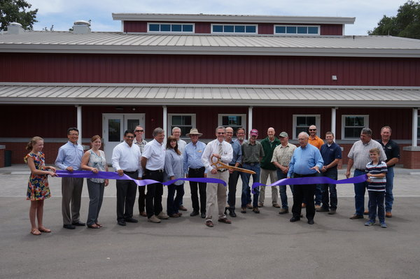 Wastewater Treatment Plant Ribbon Cutting