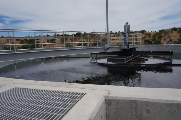 Wastewater Treatment Plant secondary clarifier.