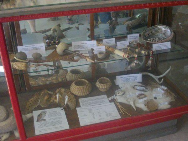 salinan artifacts in Salinan Nation display