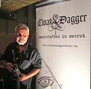 Ray Schofield, winemaker/conspirator-in-chief of Cloak & Dagger wine produces 600 cases annually.