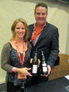 Molly Bohlman, winemaker of Niner Wine Estates with Tucker Spear, director of sales