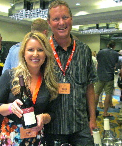 Daniellle Huber with James Kress, winemaker of Tolosa