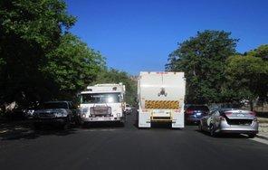 garbage trucks on 12 Street