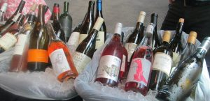 Selection of white and Rosé wines were a welcome relief on a warm summer day.