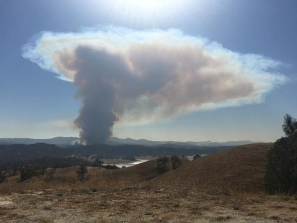 Photo of the Running Deer fire by Marc Coons.