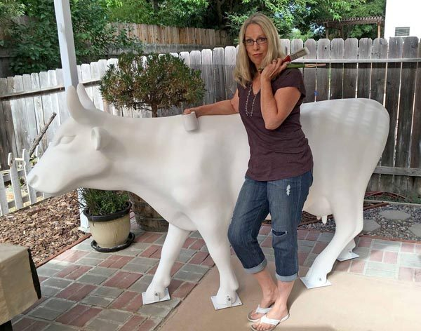 The cow was designed by local artist Jeannine Bringman.