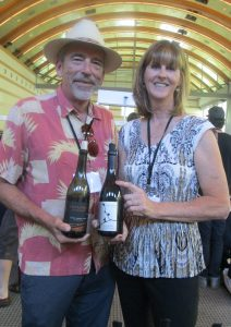 Tom Stolpman from Santa Barbara County and Deborah Sowerby pouring Villa Creek Cellars from Paso Robles.