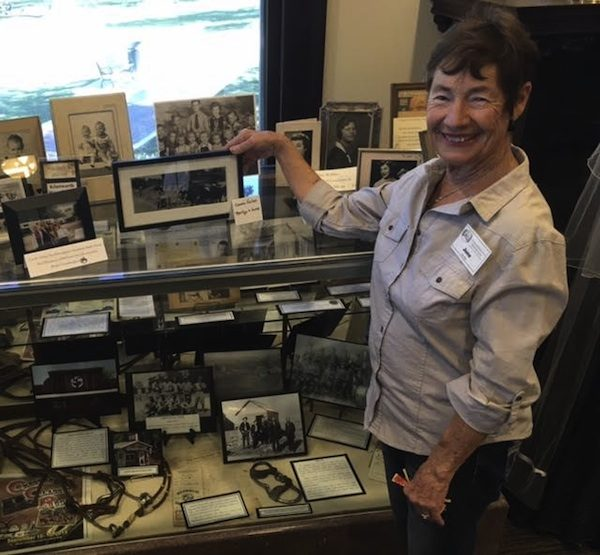 June Bertoni and her family display.