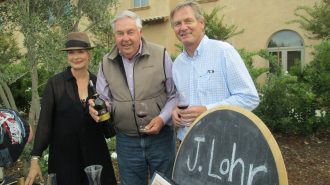 Paso Robles pioneer Jerry Lohr stopped by at the J. Lohr tasting table and was joined by his daughter Cynthia Lohr and winemaker Steve Peck