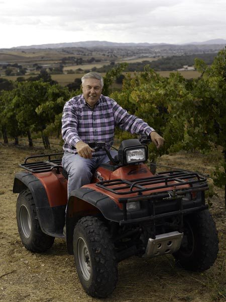 Jerry Johr at Snowden Vineyard on his ATV.
