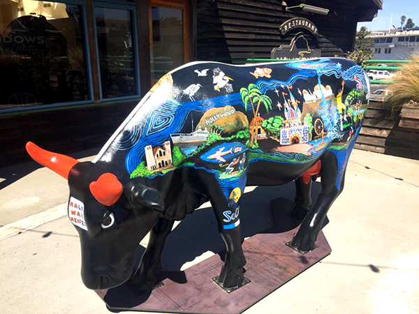 Halfway Heifer, one of many CowParade art installations.