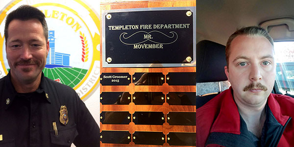 Templeton chief White and fireman Neely compete for charity.