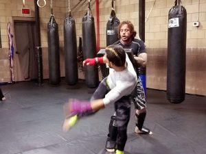 Chris Elisarraras training at The Pit (photo Jordan Elgrably).