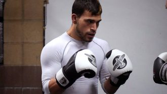 Chris Elisarraras in training at The Pit (photos Jordan Elgrably).