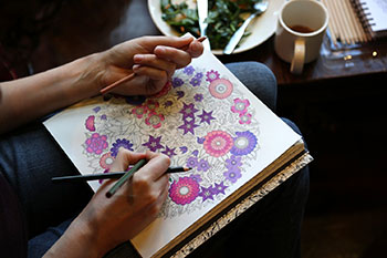Adult coloring (photo courtesy Washington Post).