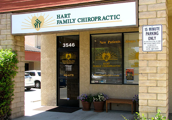 Hart Family Chiropractic in Atascadero is next door to Kennedy Club Fitness.