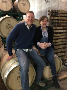 Jason Haas of Tablas Creek Vineyard and Amy Butler of Ranchero Cellars