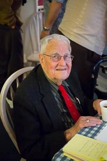 The picture below I took on his 105th birthday party.