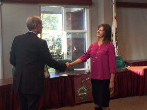 Mary Sponhaltz and Paso Robles City Manager Tom Frutchey.