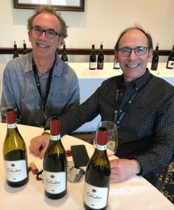 Elliott Dolin of Malibu-based Dolin Estate with his winemaker Kirby Anderson.