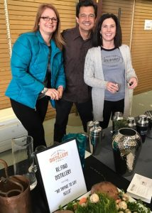 Alex and Monica Villicana with sister Emily of Re-Find Distillery