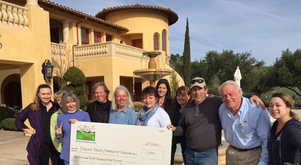wine trail donates