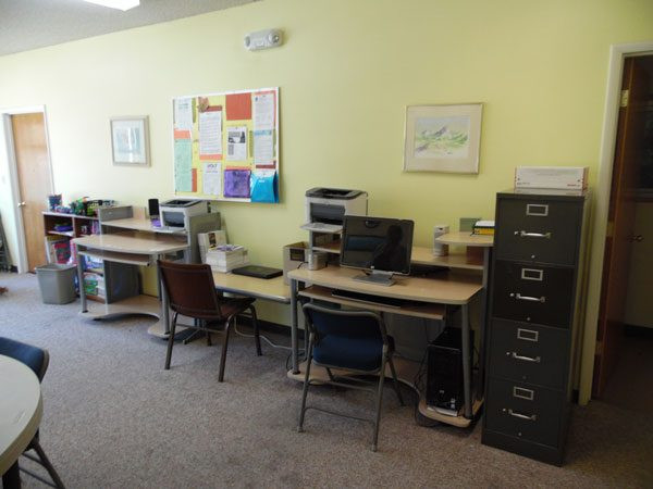 The computer center is part of the ECHO job search program as well as helping children with school work.