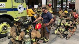 Fire department donates equipment to Cabo San Lucas firefighters