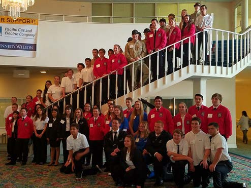 PRHS Skills USA state conference participants.