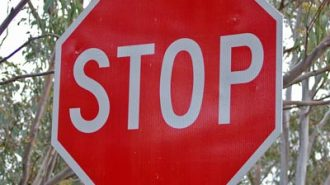 new stop sign