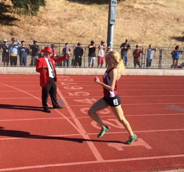 Annie Meeder won the 1600 and 3200 meter runs.