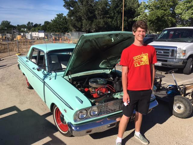 Burke Gehrung and his 1963 Ford Fairlane.