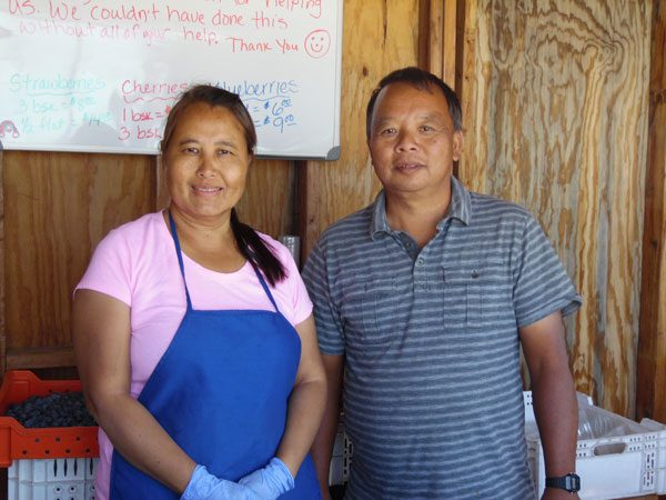 Meui Saelee and Chan ChaoPharn have been operating the stand for four years.
