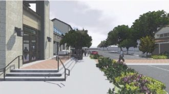 Proposed outside cafe and crosswalk