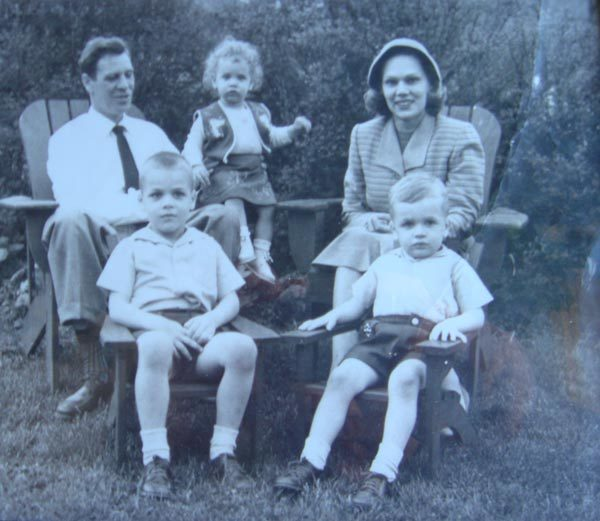 The Thomas Stroh Tobin family: Thomas, Chuck, Midge, Marguarite, and Josh.