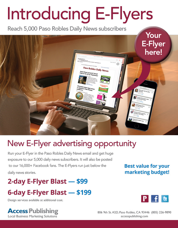 Paso Robles Daily News E-Flyer
