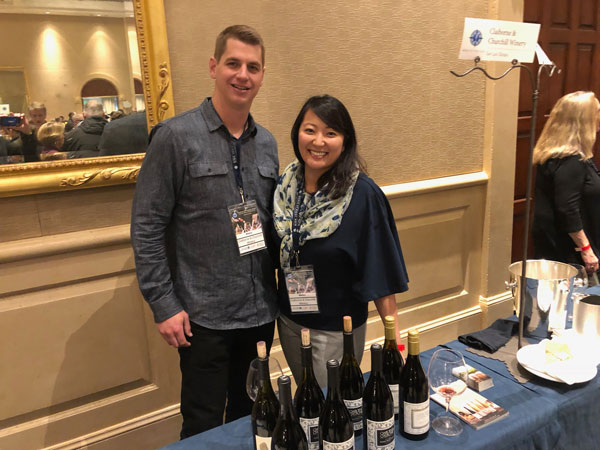 Elizabeth Churchill Thompson and winemaker Zack Geers of Claiborne and Churchill Winery.