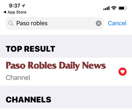 Paso Robles Daily News on Apple News