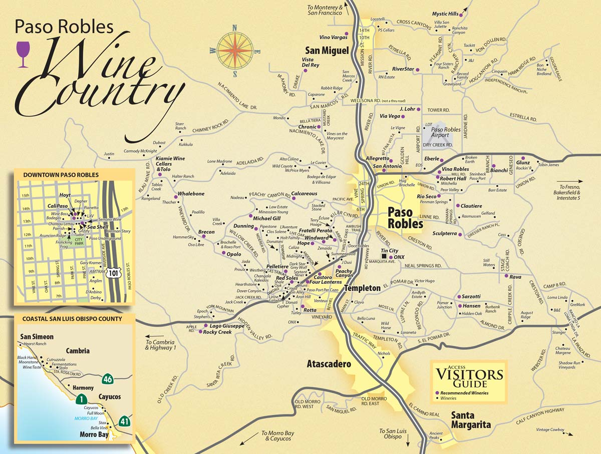 Paso Robles Wine Tasting Map