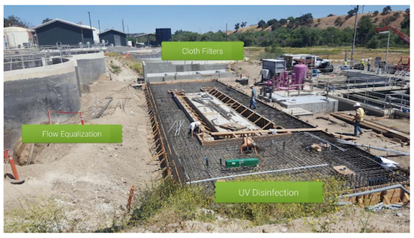 Construction progresses on new recycled water treatment