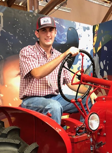 Tyler Shimke paso robles high school student tractor restoration